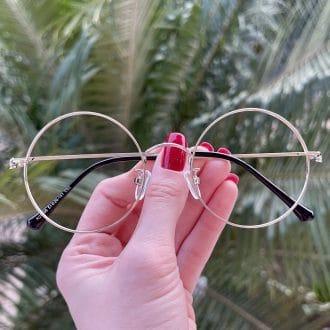 safine com br oculos de grau redondo prata nathalia