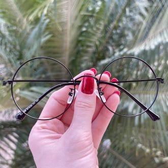safine com br oculos de grau redondo preto fosco nathalia