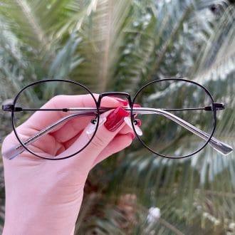 safine com br oculos de grau redondo preto nina 3