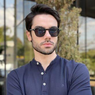 safine com br oculos de sol masculino quadrado preto fosco vitor 1