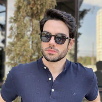 safine com br oculos de sol masculino quadrado preto fosco vitor 3