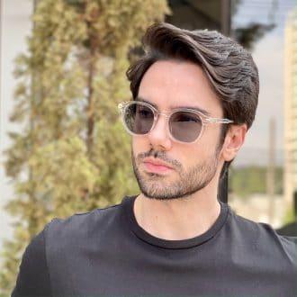 oculos de sol masculino quadrado transparente luan