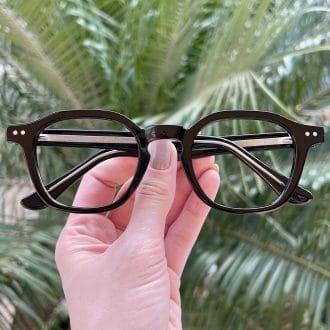 Óculos de Grau Quadrado Preto Caroline