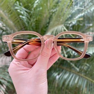 Óculos de Grau Quadrado Marrom Caroline