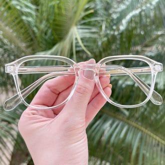 Óculos de Grau Quadrado Transparente Silvia