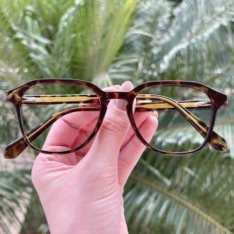 Óculos de Grau Quadrado Tartaruga Silvia