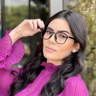 Óculos de Grau Quadrado Preto Silvia
