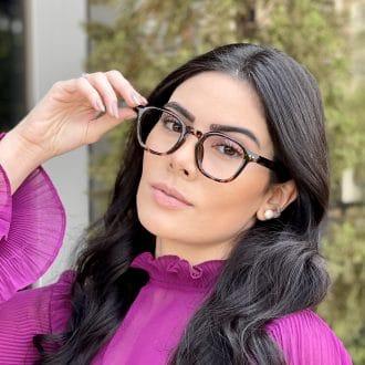 Óculos de Grau Quadrado Tartaruga Caroline